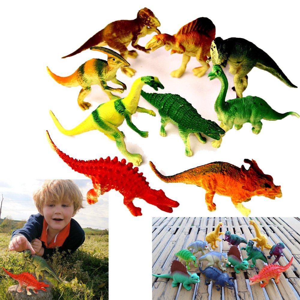 Educational Realistic Looking Large Dinosaurs Allosaurus Tyrannosaurs Stegosaurus... 12 Pce dazzling toys