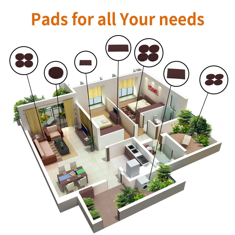 Amazon.com: Almohadillas de fieltro para muebles, 140 piezas ...