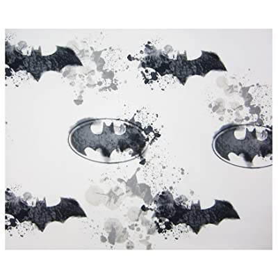 Batman Paint Splatter (Flat Sheet ONLY) Size Twin Boys Girls Kids Bedding: Home & Kitchen