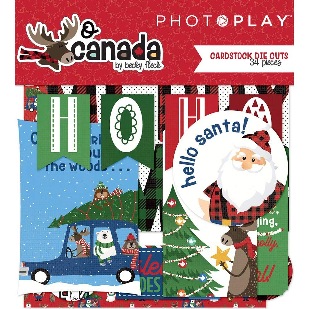PHOTO PLAY O Canada Christmas Ephemera DIE Cut Pack Photoplay Paper 421048