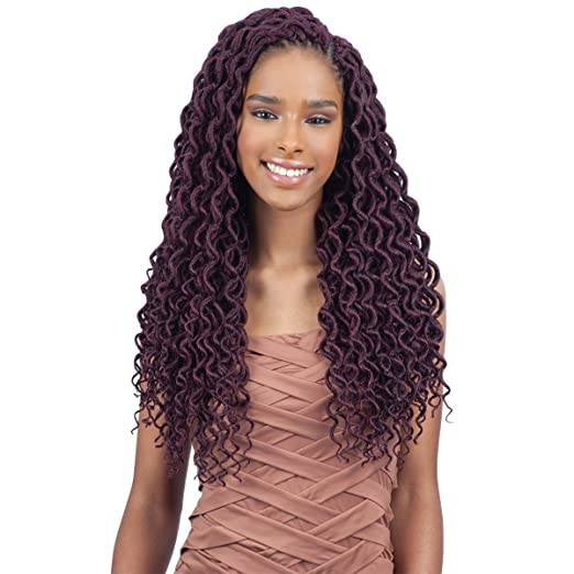 FreeTress 2X Soft Curly Lite Faux Loc Crochet Synthetic Braiding Hair (18