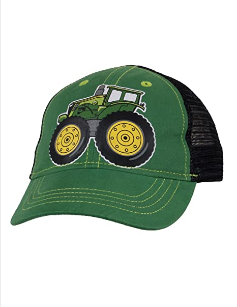 d43f26ddf John Deere Toddler Size Green Tractor Cap Black Mesh for 2-4 Year olds