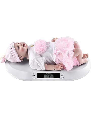 [pro.tec] Báscula Digital para bebés Balanza para Mascotas 55 x 33 x