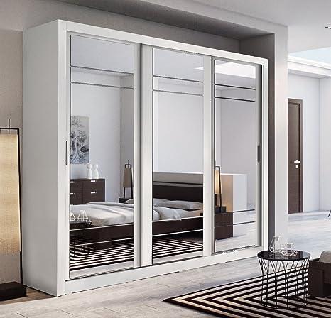 Arthauss, moderno guardaroba con porte scorrevoli a specchio, 250 cm ...