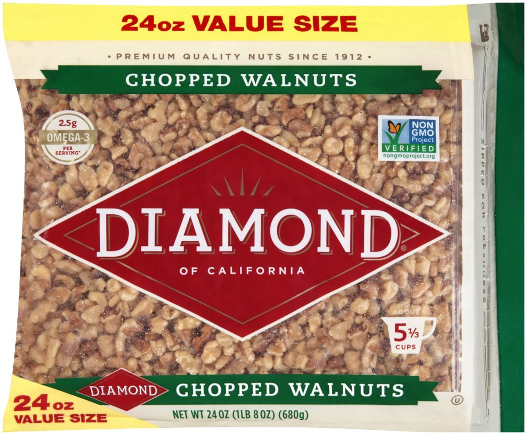 Diamond of California, Chopped Walnuts, 24 Ounce by Diamond of California