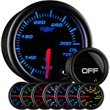 GlowShift Tinted 7 Color Oil Temperature Gauge