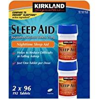 KIRKLAND SIGNATURE Kirkland Signature Nighttime Sleep Aid (Doxylamine Succinate 25 Mg), 96 Tablets (Pack Of 4)