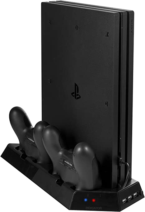 Amazon.com: younik vg-06 PS4 Pro Vertical Stand Cooling Fan ...