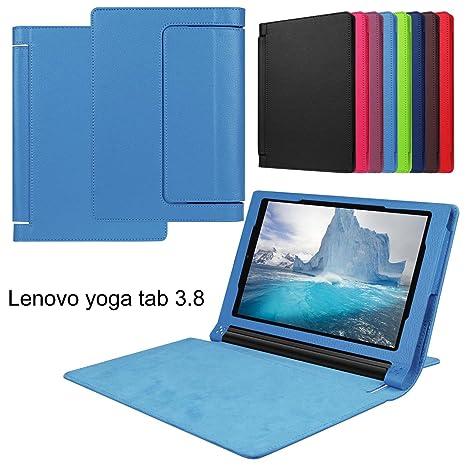 Meimeiwu Lenovo Yoga Tab3 8.0 850F Funda - Ultra Slim Ligera PU Cuero con Soporte Tablet Funda Caso Case para Lenovo Yoga Tab3 8.0 850F - Sky Blue