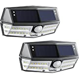 Litom Solar Lights Outdoor, 4th Generation 30 LED Solar Motion Sensor Lights with IP67 Waterproof & Wide Angle, Super Bright Security Solar Wall Lights for Front Door, Backyard, Garage, Porch(2 Pack)