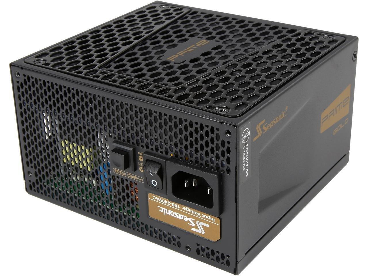 Seasonic PRIME Ultra 650W 80 PLUS Gold Power Supply, Full Modular, 135mm FDB Fan w/Hybrid Fan Control, ATX12V & EPS12V, Poweron-Self Tester,- 12 yr Warranty (SSR-650GD v2)