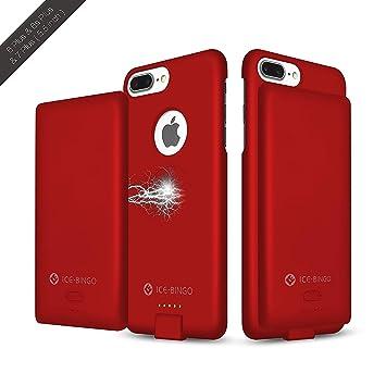 iPhone 7 Plus Funda Cargador de batería, ice-Bingo 5000 mAh Extended batería Funda de carga, batería cubierta de protección y funda para portátil 2 en ...