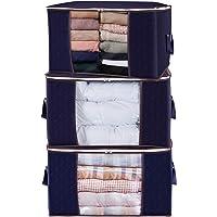 Lifewit Duże torby do przechowywania ubrań torby do przechowywania odzieży na kołdrę, pościel, koce, gruba oddychająca…