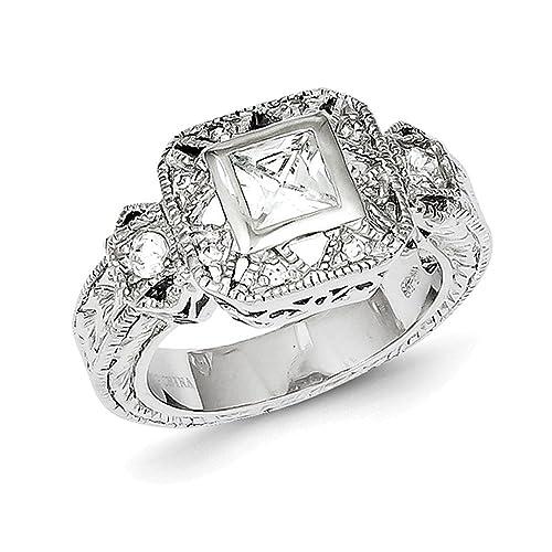 prezzo di fabbrica c3996 7a21f Lex & Lu in argento Sterling CZ anello stile antico: Amazon ...