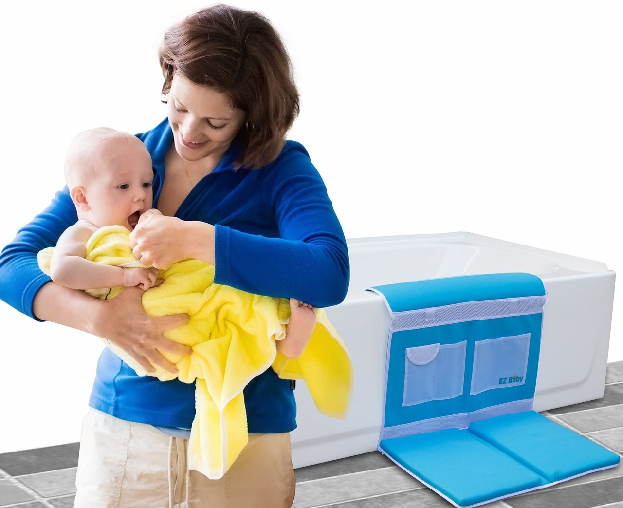 Amazon.com : THE ORIGINAL EZ Baby Bath Kneeler and Elbow Pad with ...