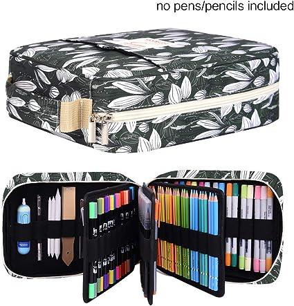 Ranura para estuche, capacidad para 202 lápices de colores o 136 bolígrafos de gel con cierre de cremallera: Amazon.es: Bricolaje y herramientas