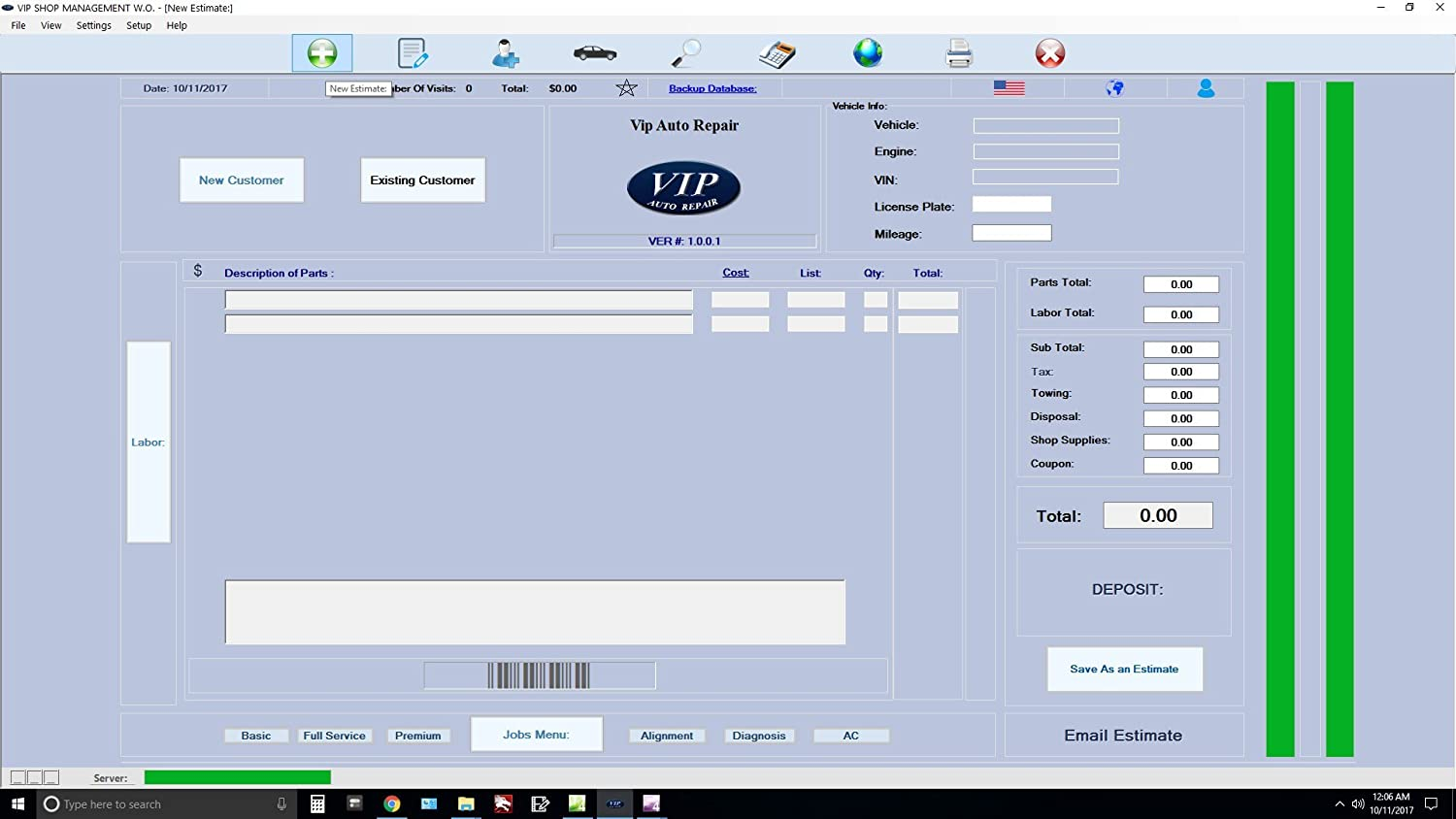 Amazoncom Invoice Software For Auto Repair Shops Vip Shop Management - Easy invoice software free download cheap online makeup stores
