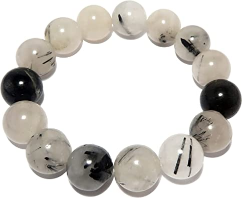 Genuine Tourmalated Quartz Stretch Bracelet