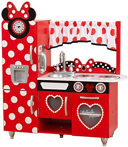 Amazon Com Disney Jr Minnie Mouse Vintage Kitchen Play Kitchen Toys Games
