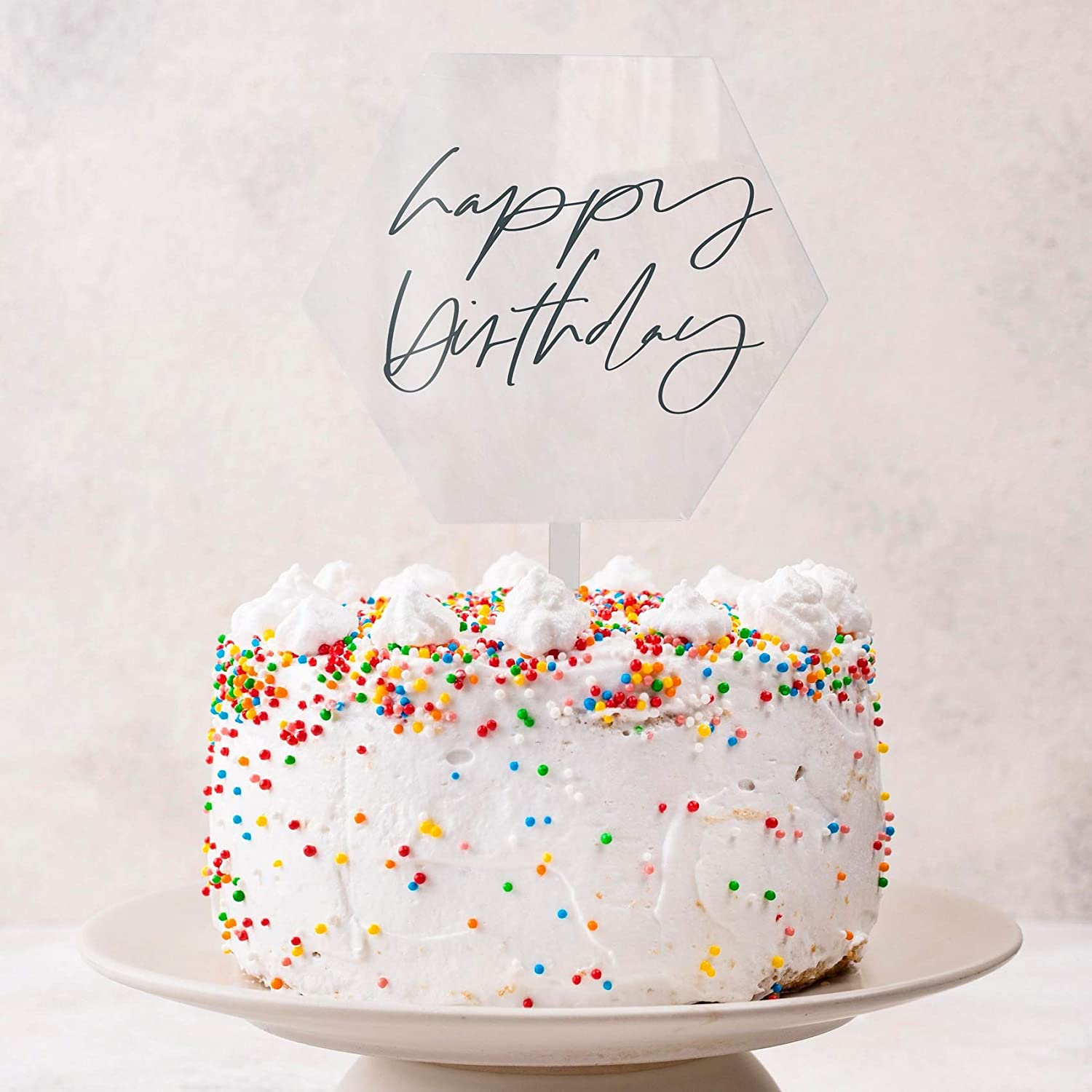 Details about  /Rainbow Happy Birthday Letters Cake Topper Lacer Creative Cup Dessert Topper