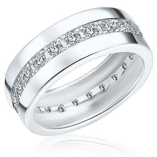 Ring ECHT 925 Silber Zirkonia Schmuck Geschenke Damen Silberringe Memoirering