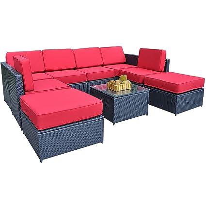 Amazon.com: Set de sofá MCombo 6085-S1009 de 9 piezas ...