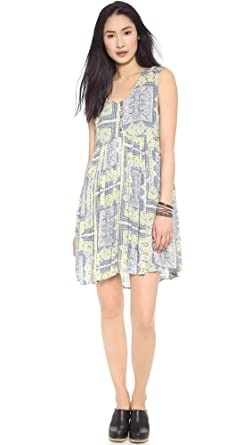 Free People Womens Take Me to Thailand Dress, Fog Combo, X-Small