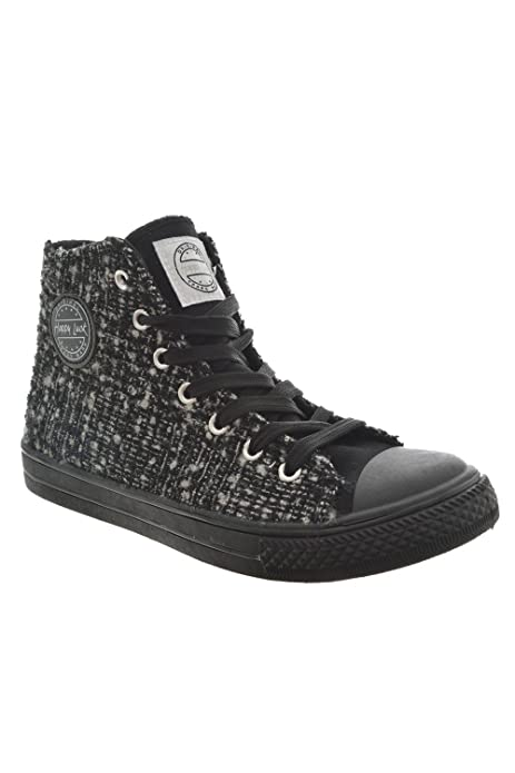HAPPY LUCK Zapatillas de Deporte de Lona Para Hombre, Negro (Negro), 38: Amazon.es: Zapatos y complementos