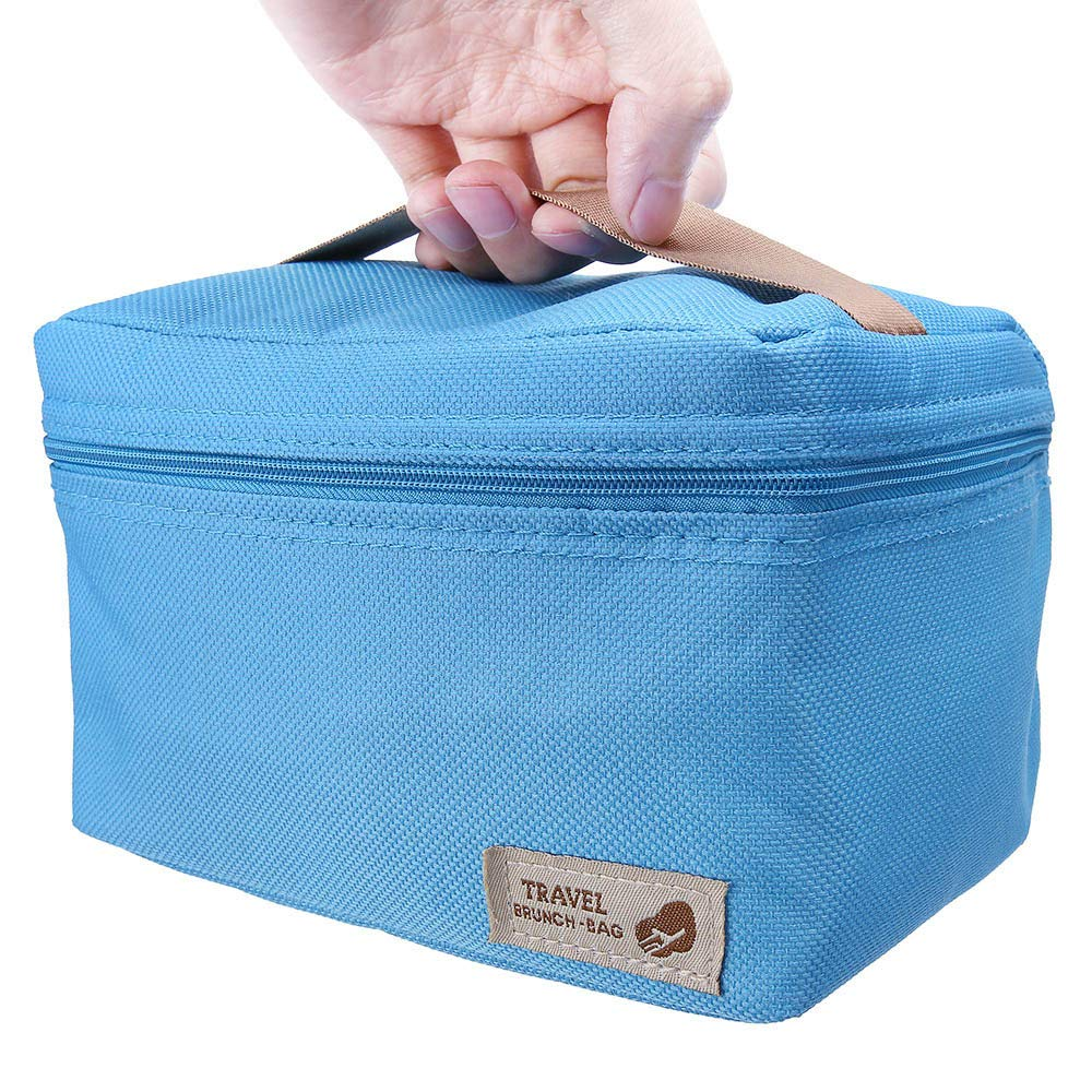 ♚Rendodon♚ Storage Bag, Household Storage, Foldable Lunch Box Bag, Lunch Picnic Storage Bag, Outdoor Portable Insulated Thermal Cooler Bento Lunch Box Picnic Storage Bag (Blue) by ♚Rendodon♚ (Image #5)