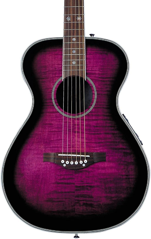 Daisy Rock Pixie - Guitarra electroacústica para zurdos, morado Burst: Amazon.es: Instrumentos musicales