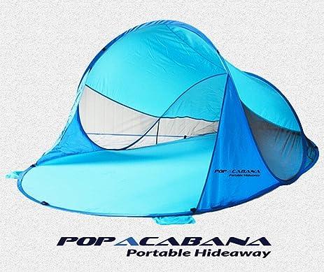 Pop up portable cabana tent indoor outdoor lightweight family instant sun shelter hideaway popacabana  sc 1 st  Amazon.com & Amazon.com: Pop up portable cabana tent indoor outdoor lightweight ...