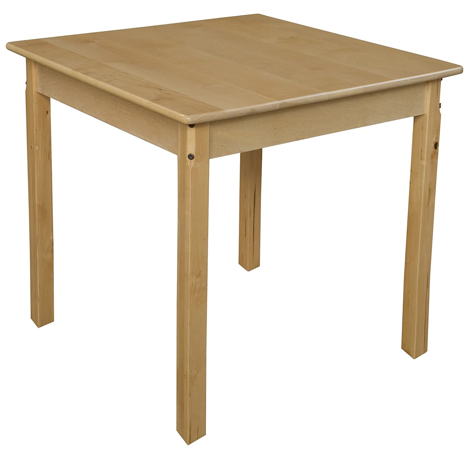 Natural Wood Designs WD83329 30 Square Hardwood Table with 29 Legs