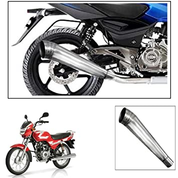 Exhaustshop Long Pipe Motorcycle Exhaust Silencer For Tvs Sport