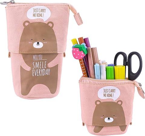 iSuperb Lona Estuche Escolar Pequeña Bolsa para Lapices Estudiante Plumier Pencil Case Kawaii: Amazon.es: Oficina y papelería