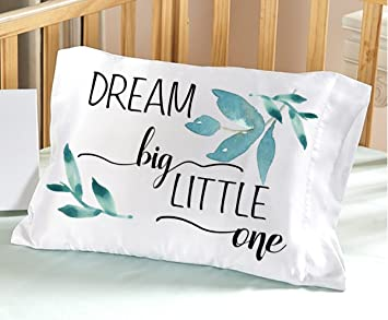 Amazon.com: Dream Big Little One Nursery Funda de almohada ...