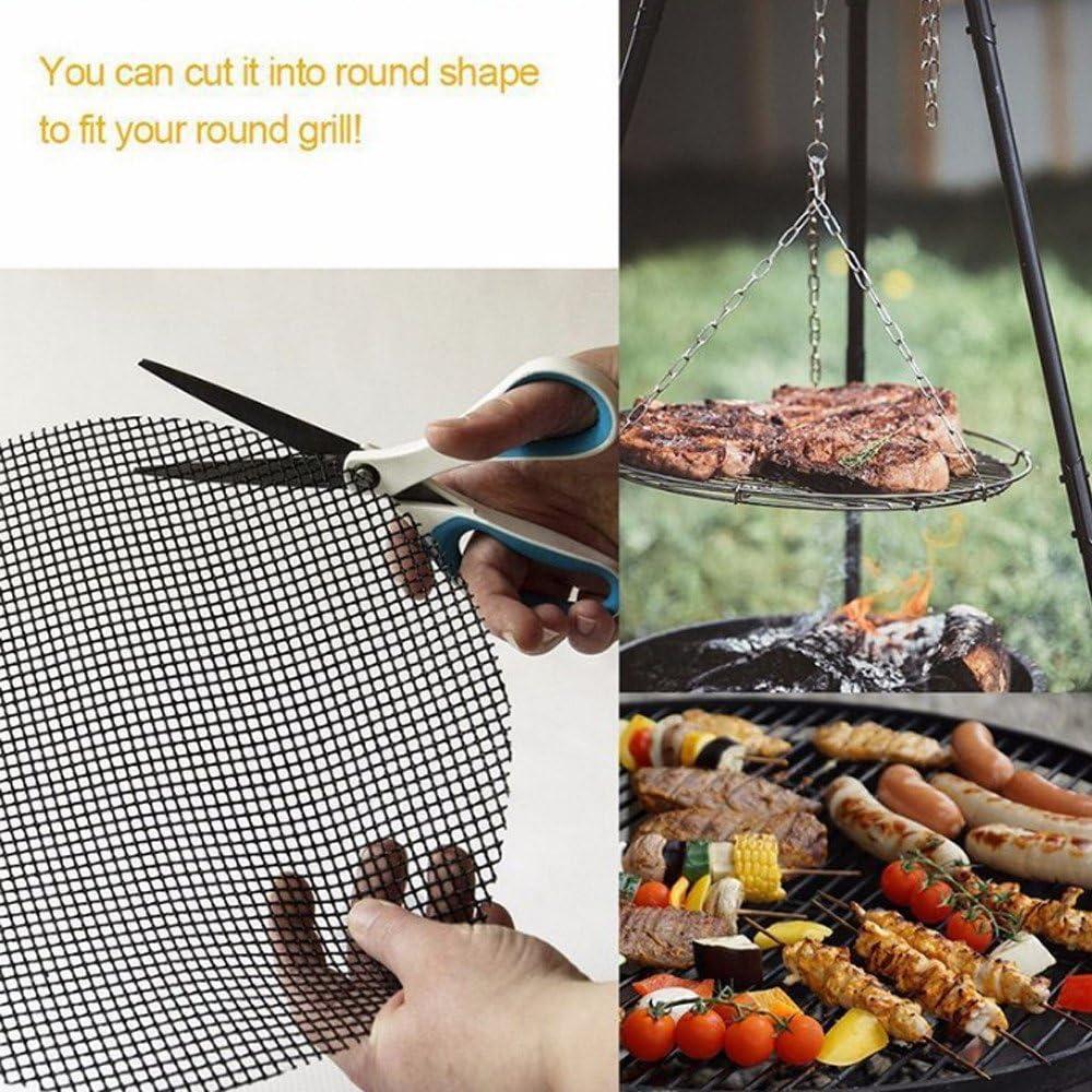 XinYiC Lot de 2 tapis de barbecue antiadhésifs en fibre de verre 33 x 40 cm # A # A