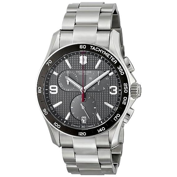 Victorinox Swiss Army - Reloj de Pulsera para Hombre cronógrafo Cuarzo Acero Inoxidable 241656: Amazon.es: Relojes