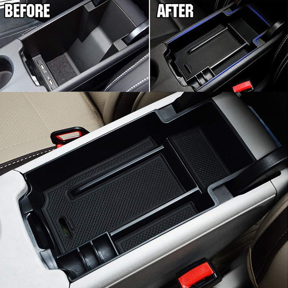 Xpccj antid/érapant de voiture central Bo/îte de rangement Container Plateau Organiseur de voiture Accessoires pour Benz A B CLA GLA Accoudoir central /à nourriture