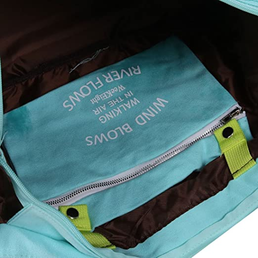 Amazon.com: eDealMax lienzo Exterior Con cremallera bolso de ropa de embalaje de equipaje de viaje gimnasia Bolsa de almacenamiento Azul claro: Home & ...