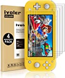[4 Pack] Screen Protector Tempered Glass for Nintendo Switch Lite, iVoler Transparent HD,High Definition,Clear Anti…