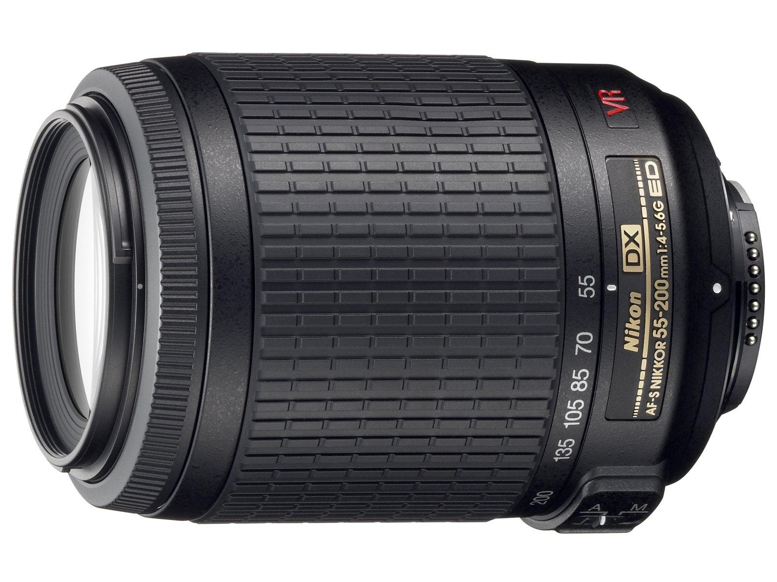 Nikon 55-200mm f/4-5.6G ED IF AF-S DX VR [Vibration Reduction] Nikkor Zoom Lens Bulk packaging (White box, New) by Nikon