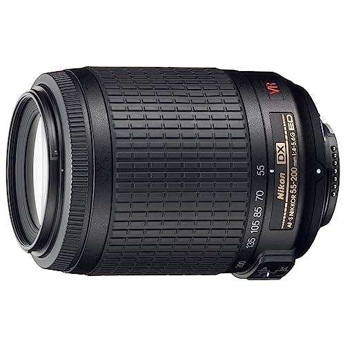 Nikon JAA798DA  55-200MM F/4-5.6 AF-S VR DX Black Lens - Bulk packaging (White box, New)