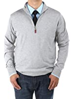 Luciano Natazzi Men's Mock Neck 1/4 Zip Sweater Relaxed Fit
