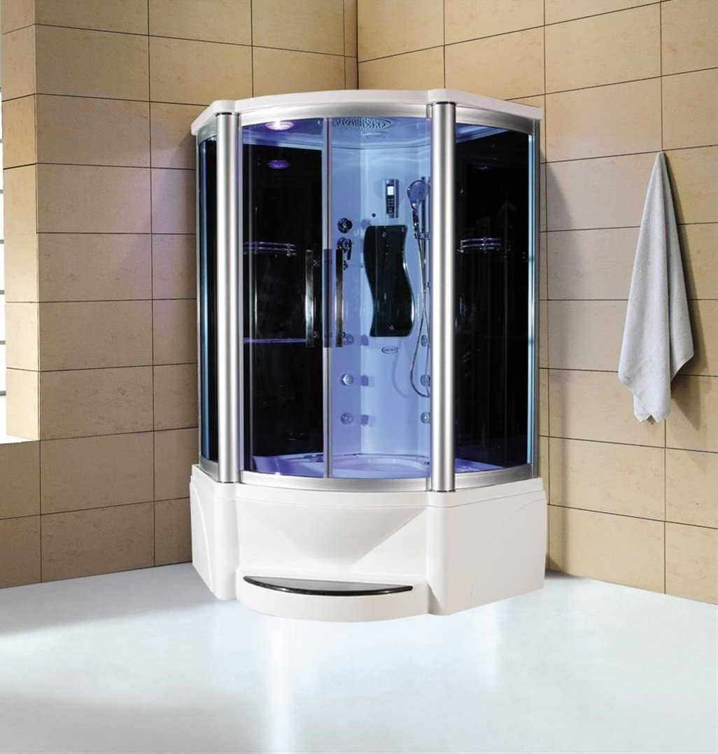 Eagle Bath Ws 609p 48 Inch Steam Shower W Whirlpool Bathtub Combo Unit Amazon Co Uk Kitchen Home