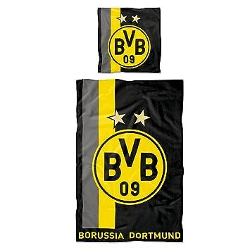 Borussia Dortmund Bvb Bettwäsche Mit Streifenmuster 135 X 200 Cm