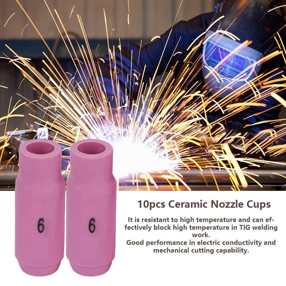 10Pcs TIG Soudage Torche Fournitures Soudage Colleten C/éramique 10N50-10N46# 4 8mm # 8 pour Torche de Soudage WP-17//18//26
