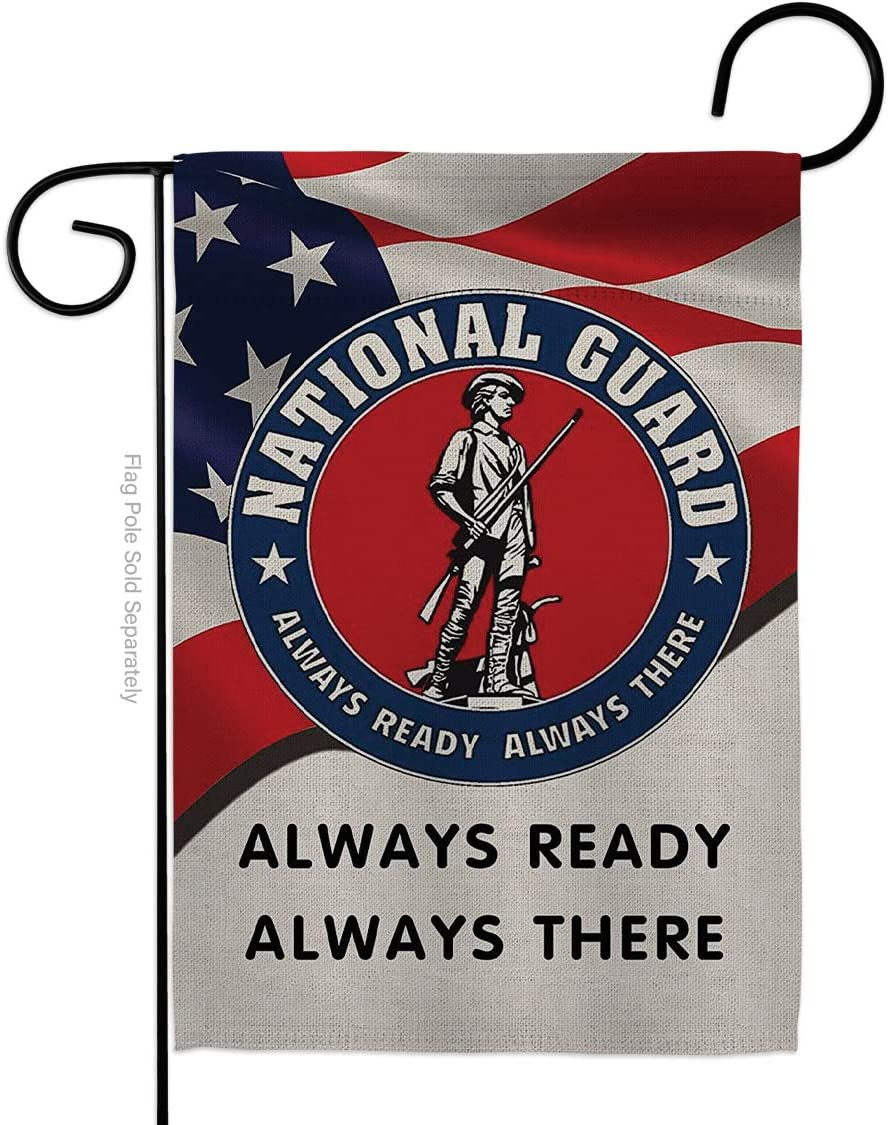 Hexagram Garden 12x18 inch Prime Flag Burlap Double Sided Yard, National Guard 2