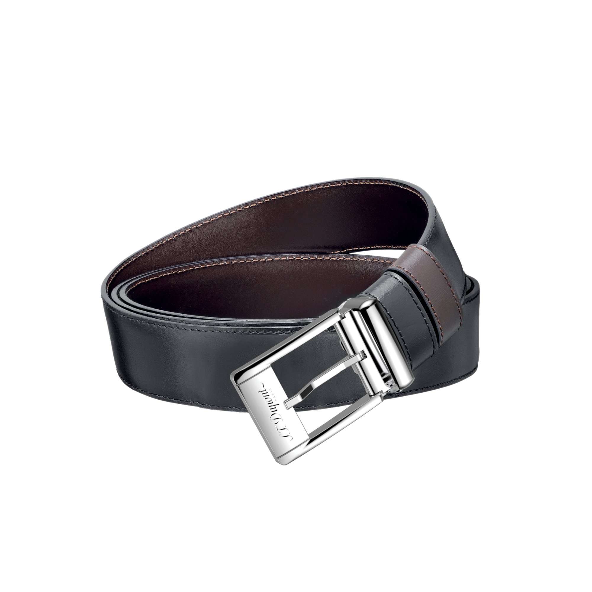 S.T. Dupont 9560120 Palladium Auto-Reversible Buckle Business Belt