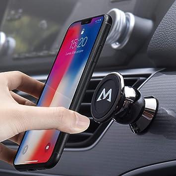 Mpow Soporte Magnético Universal con Pegatinas Metalicas, Iman Móvil Coche/ Soporte Auto Car Mount Metálico 360° Rotación para iPhone7/6/6s 6 Plus, Galaxy S8, Moto G5, LG G6 y Otros Smartphones, Gris: Amazon.es: Electrónica