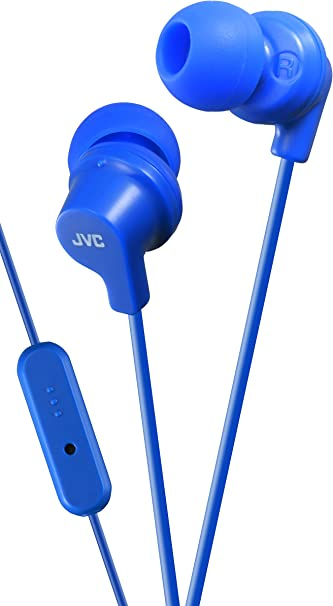 JVC HA-ENR15-BR-E In-Ear-Sport-Kopfh/örer mit Fernbedienung und Mikrofon schwarz//rot